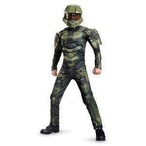 NEW Disguise Kids HALO Master Chief Muscle Costume